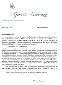 "Invito conferenza ""Fondacione Cammino di Canneto"""